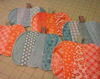2 Pumpkin Mug Rugs - Coasters - Set of Two - Choose Color