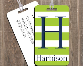 Bag Tag Set Family 2 Pack Luggage - Personalized Custom Monogram Travel Baggage Backpack  Kids Bridesmaid Gift Bridal Party Bridesmaides