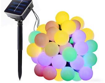 30 LED Solar String Lights, Waterproof Multi-Color Ball Lights 20ft USA SELLER