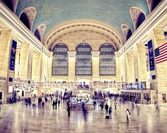 Grand Central Station Photo New York City Photo NYC Travel Print New York City Art Architecture Print New York Wall Art New York Urban Decor