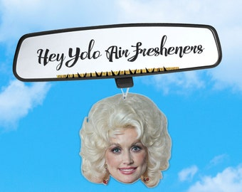 Dolly Parton Air Freshener - Dolly Air Freshener - Fresh Scents - Queen of Pop - Air Freshener Heads