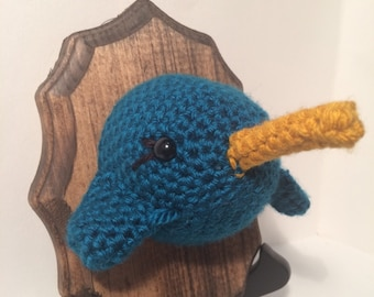 Amigurumi Crochet Taxidermy - Narhwal