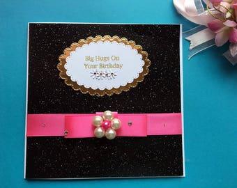 Handmade Personalised Birthday Card, Luxury Card, Sister Birthday Card, Mum Birthday Card, Wife Birthday Card, Daughter Birthday Card C178