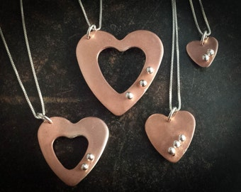 PinHead Heart Necklaces