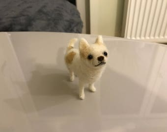 Needle Felted dog needle felted Chihuahua Dog MADE TO ORDER Pet Portrait Pet Memorial Dog Memorial