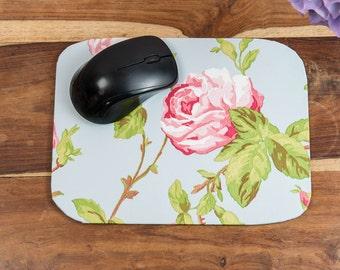 Personalized Mouse Mat - Vintage Rose Design