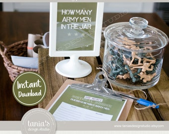 Army - Toy Soldier - Army Party Game and Activity - Instant Download - by Tania's Design Studio