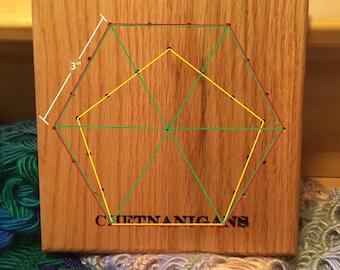 Hexagram/Pentagram/Triangle African Flower 3-in-1 EZ Blocker - New Item!