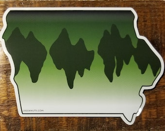 Iowa Largemouth Bass Sticker Decal