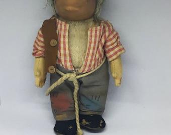 Original Steiff Vintage Hedgehog Doll Named Mecki Germany circa 1950s