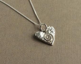 Swirly Heart Pendant