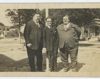 Vintage Snapshot Photo: Three Men, c1930s (712631)