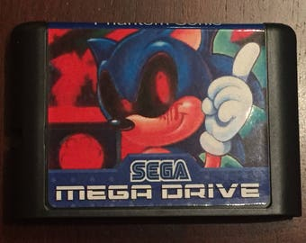 Sonic Nightmare Fan Made Custom Sega Mega Drive / Genesis Game. 16bit