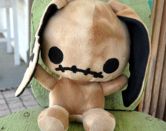 Tan Zombie Bunny plush