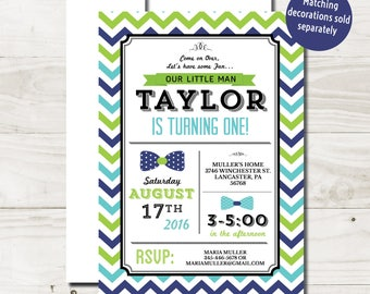 Bow Tie First Birthday Invitations little man birthday invite boy first birthday boy 1st birthday party bow tie invitation printable printed