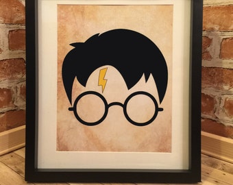 The Boy Who Lived harry potter framed print