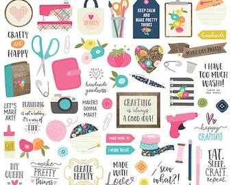 Crafty Girl Bits & Pieces Die Cut - Carpe Diem