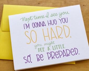 Hug So Hard Card