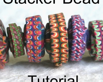 Stacker Bead Polymer Clay Bead Tutorial PDF Digital Download