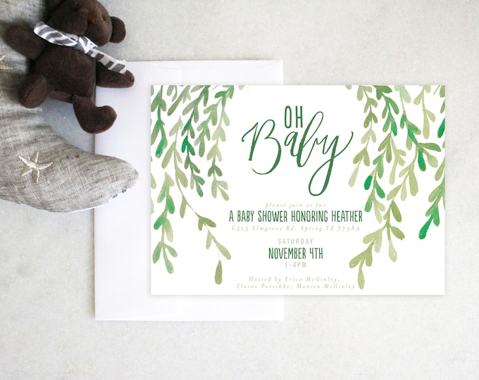 PRINTABLE Baby Shower Invitation   Oh Baby