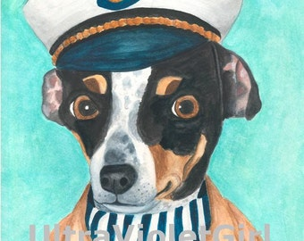Dog Sea Captain 8x10 Print of Wagner the Sea Captain