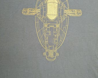 Star Fighters - Firespray-31 class patrol and attack craft , Slave 1 - (men) crew neck t-shirt