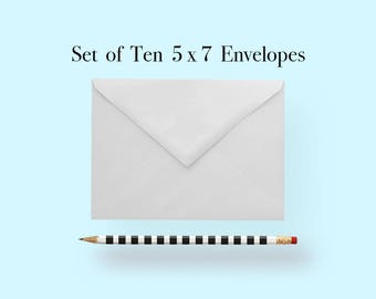5x7 White Envelopes, A7 White Envelopes, White Envelopes 5 x 7, White Envelopes 5x7, White Envelopes A7