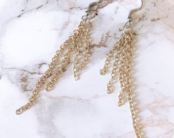 Mixed Metal Chain Earrings