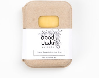 Carrot and Sweet Potato soap -Sensitive Skin Soap, Eczema Soap,All Natural Soap, Handmade Soap, Unscented Soap, Vegan Soap, Shea Butter Soap