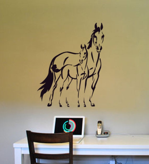 Horse Foal Wall Decal Pony Western Room Decor Girls Bedroom Sticker Teen  Girl Dorm Gift Baby Nursery Wall Decor Boy Child 22 X 28 Inches