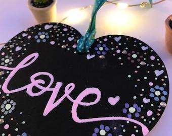 Love heart hanging decoration