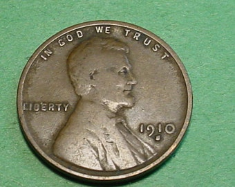 1910-S  Lincoln Wheat  Cent Very Good - Semi Key Date  <>ET0021