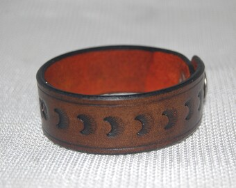 leather bracelet. friendship bracelet. handmade handtooled