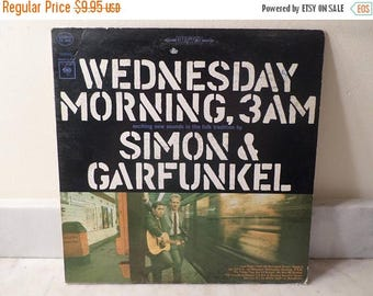 Save 30% Today Vintage 1966 LP Record Simon and Garfunkel Wednesday Morning 3AM Very Good Condition 14829