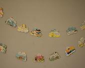 Vintage Paper Cloud Garland