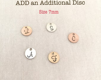 Add a Disc, 14K Gold Filled (GF), Sterling Silver (SS), Initial Disc, Add On Only, Can Not be purchased separately