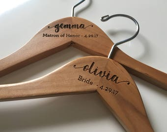 Bridesmaid Hangers | Wedding Hanger | Bride Hanger | Bridal Hanger | Wedding Dress Hanger | Personalized Hanger | Bridal Shower Gift | Bride