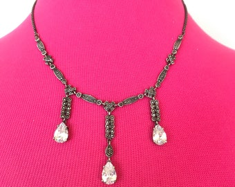 Sterling Marcasite Necklace