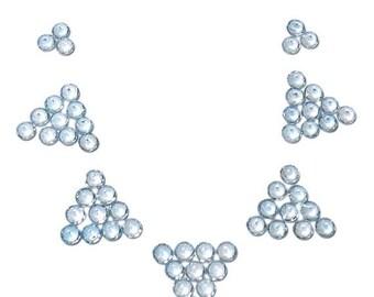 40% Sale -- Blue Topaz, Top Quality, Cut Stone, Round Shape, 5 Pcs, 4 mm Size.