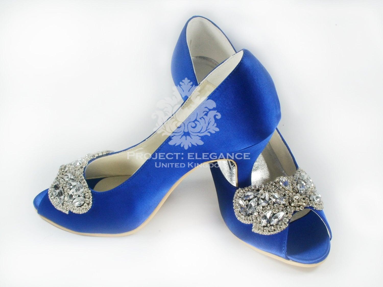 Blue wedding shoes something blue crystal wedding shoes blue project elegance junglespirit Gallery