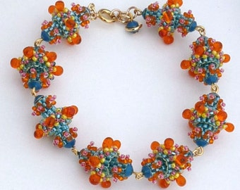 Dahlia Beaded Bead Bracelet Tutorial