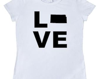 Love Kansas Women's T-Shirt by Inktastic