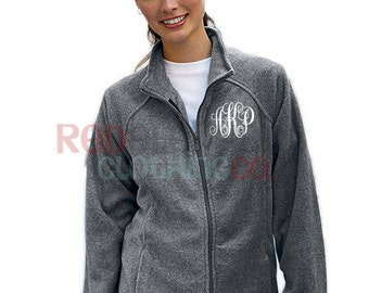 Monogrammed Full Zip Jacket, Monogrammed Fleece Jacket, Monogrammed Full Zip, Monogrammed Jacket, Ladies