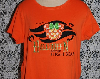 Cruise Halloween on the High Seas Applique shirt