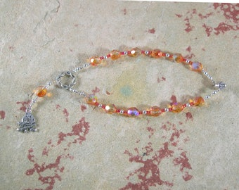 Hestia Travel Prayer Beads: Greek Goddess of the Hearth, Home and Family, Household and Community