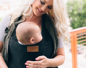 ONYX Baby Wrap, Baby Carrier, Newborn Wrap, Best Baby Shower or Registry Gift Present, Nursing or Breastfeeding Wrap, Father's Day