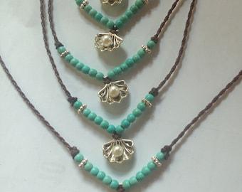 Beach bracelet anklet turquoise