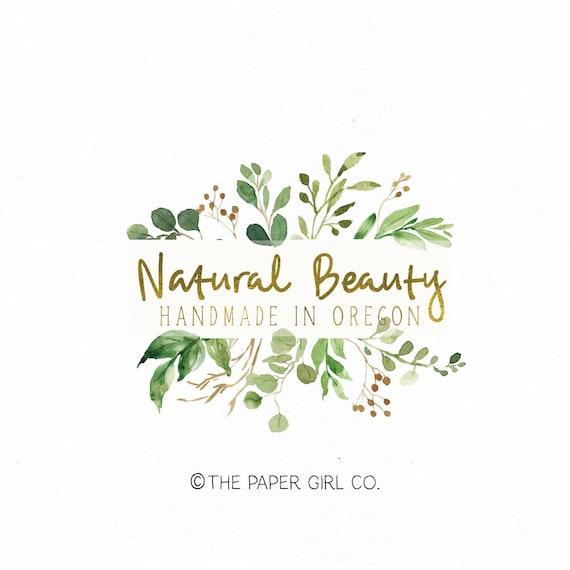 premade logo leaf logo soap logo beauty logo organic logo