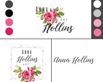 Brand Design, Logo Brand Design, Logo Brand, Premade Logos, Custom Branding, Feminine Logo, Custom Logo, Branding, Logos, Floral Logos,
