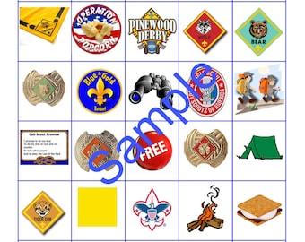 10 Card Cub Scout Bingo